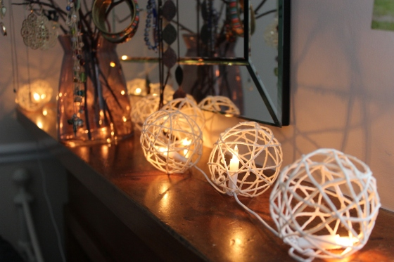 Dorm DIY #2 - twine lanterns