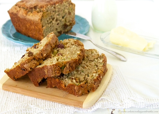 zucchini oat bread by what's cooking with ruthie