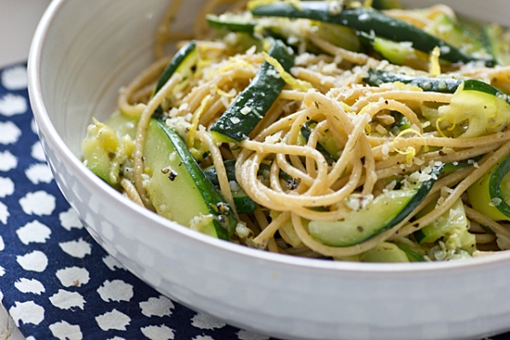 zucchini and lemon spaghetti by oh my veggies!
