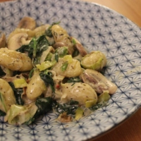 spinach, leek & mushroom gnocchi